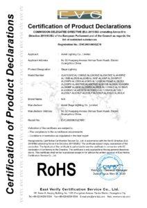 Aolait舞台灯 Rohs证书 Page 0001