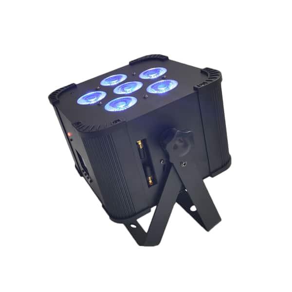 6x18w led battery par rgbwa+uv
