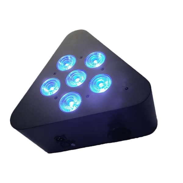 6X18W Led Battery Par Uplight Triangle